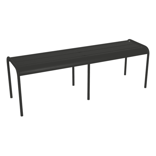 Fermob Luxembourg Bench in Liquorice