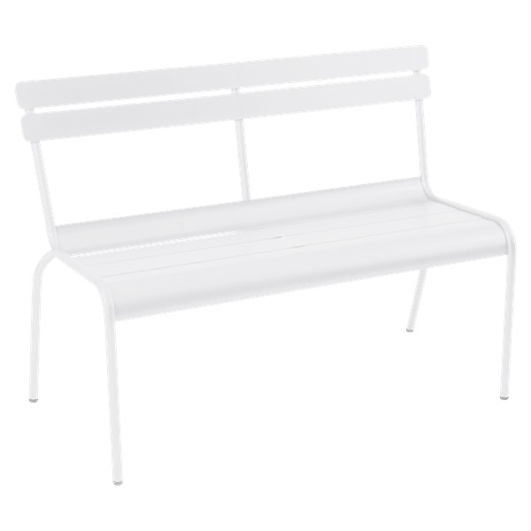 Fermob Luxembourg Bench with Back in Cotton White