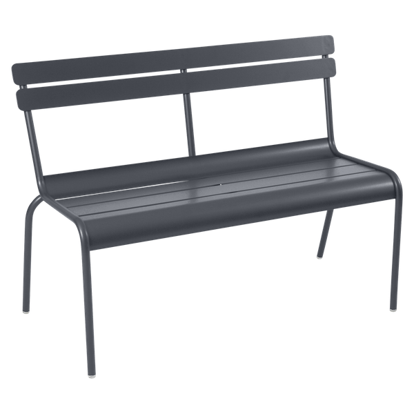 Fermob Luxembourg Bench with Back in Anthracite