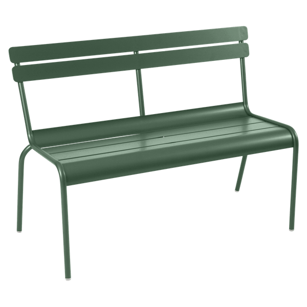 Fermob Luxembourg Bench with Back in Cedar Green