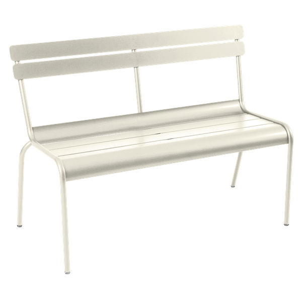Fermob Luxembourg Bench with Back in Clay Grey
