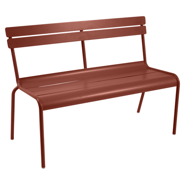 Fermob Luxembourg Bench with Back in Red Ochre