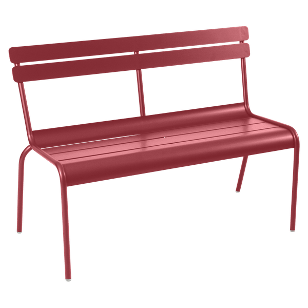 Fermob Luxembourg Bench with Back in Chilli