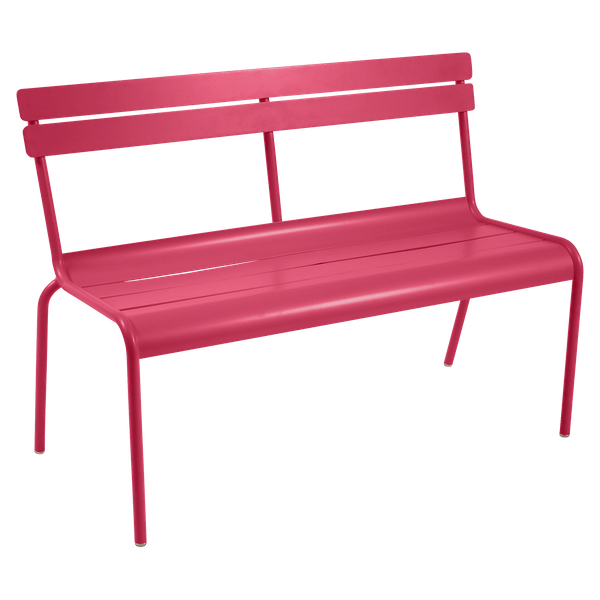 Fermob Luxembourg Bench with Back in Pink Praline