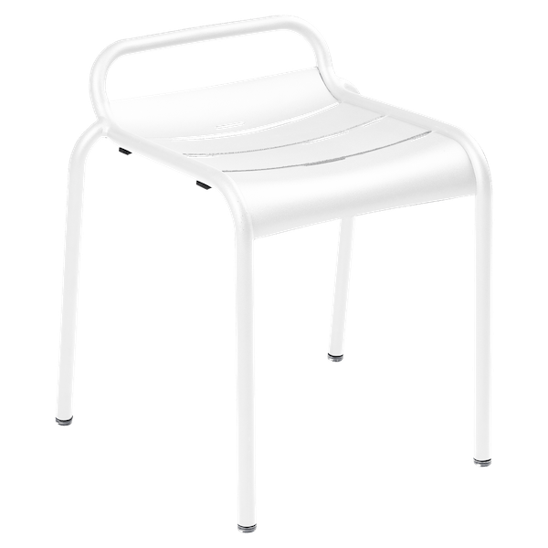 Luxembourg Stool in Cotton White