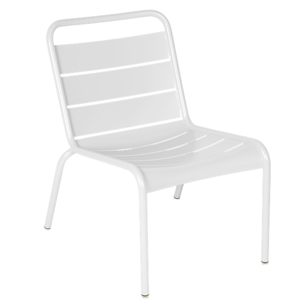 Luxembourg Lounge Chair in Cotton White