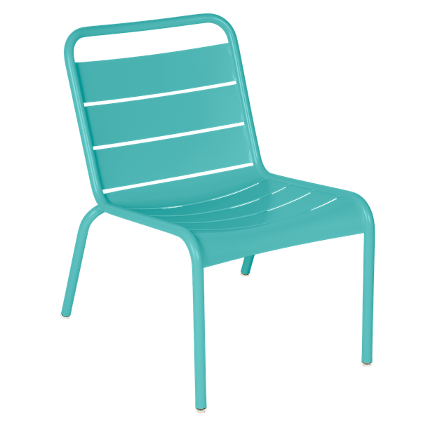 Luxembourg Lounge Chair in Lagoon Blue