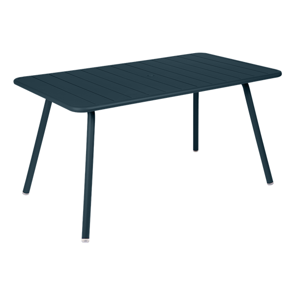 Fermob Luxembourg Table 143 x 80cm in Acapulco Blue