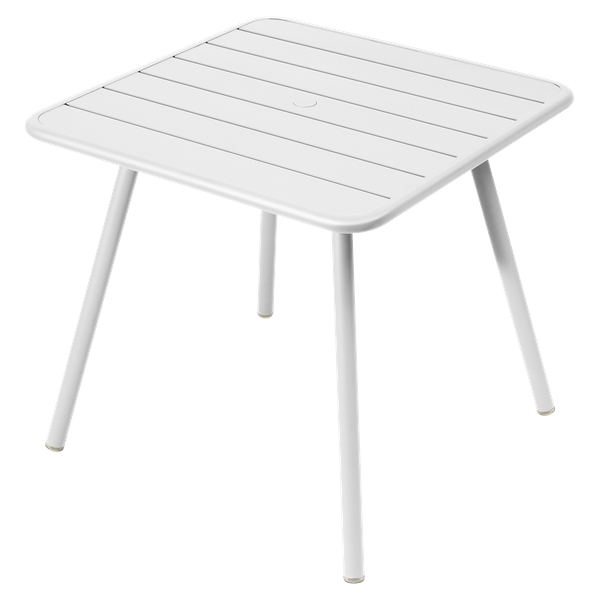 Fermob Luxembourg Table 80cm x 80cm in Cotton White