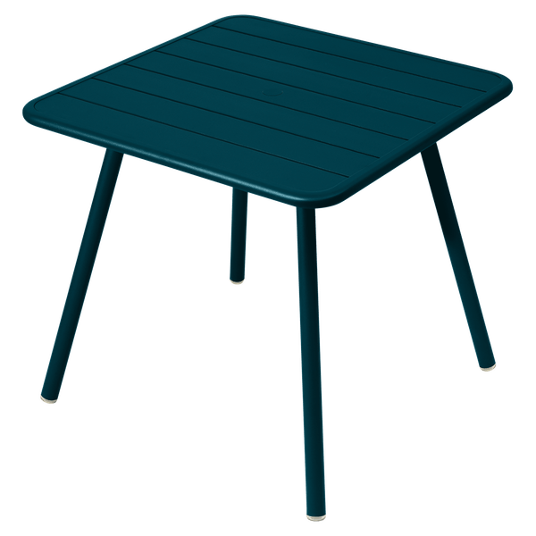 Fermob Luxembourg Table 80cm x 80cm in Acapulco Blue
