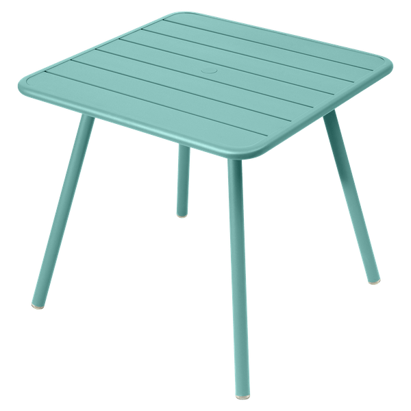 Fermob Luxembourg Table 80cm x 80cm in Lagoon Blue