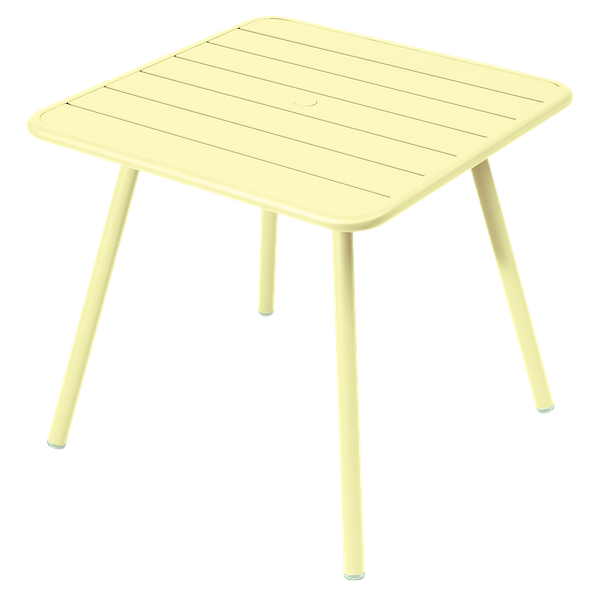 Fermob Luxembourg Table 80cm x 80cm in Frosted Lemon