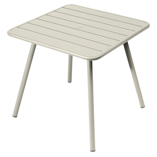 Fermob Luxembourg Table 80cm x 80cm in Clay Grey