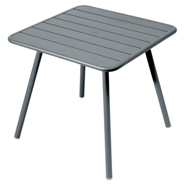 Fermob Luxembourg Table 80cm x 80cm in Storm Grey