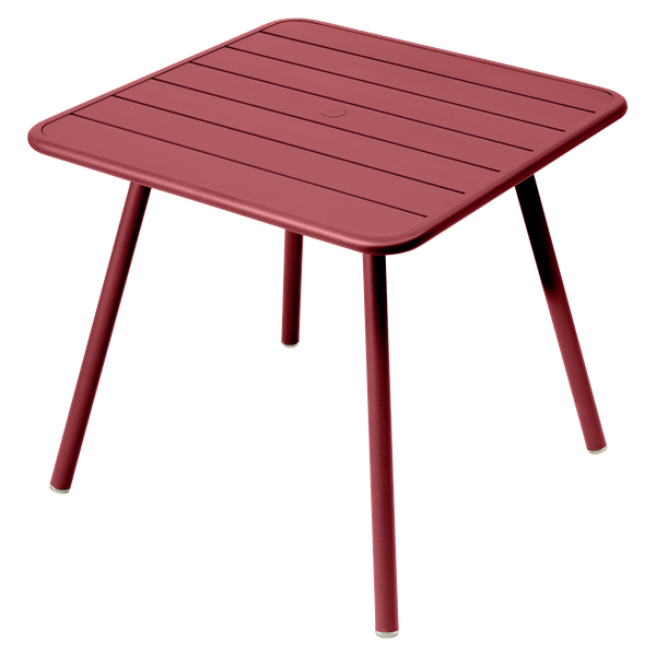 Fermob Luxembourg Table 80cm x 80cm in Chilli