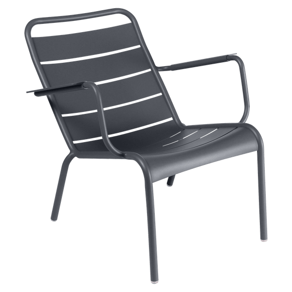 Fermob Luxembourg Low Armchair in Anthracite