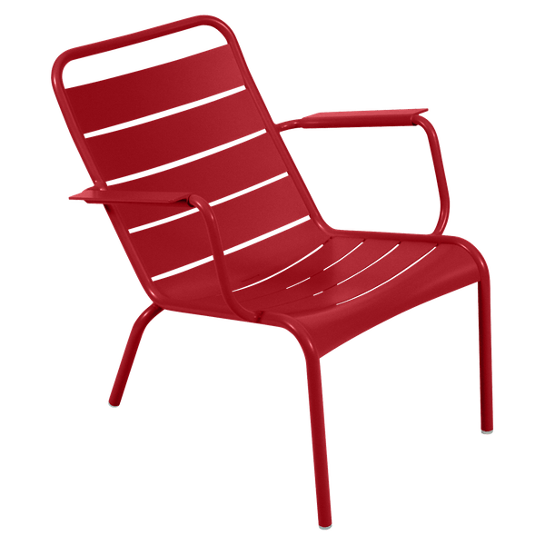 Fermob Luxembourg Low Armchair in Poppy