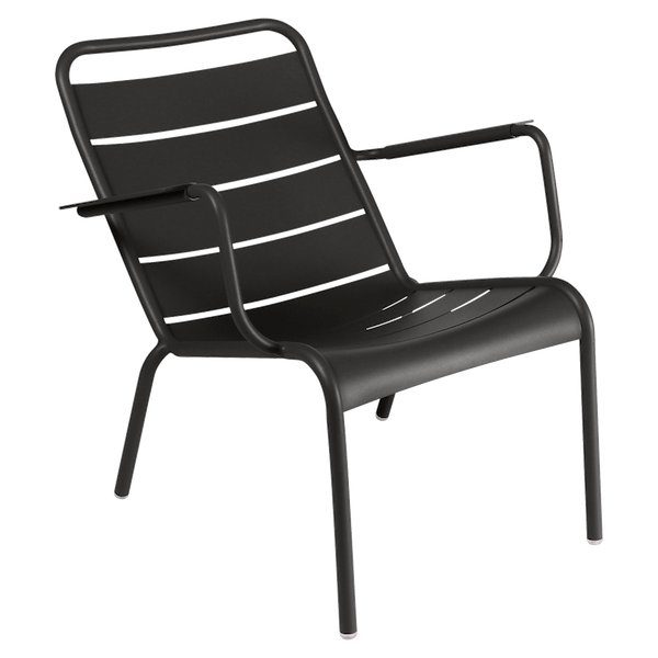 Fermob Luxembourg Low Armchair in Liquorice