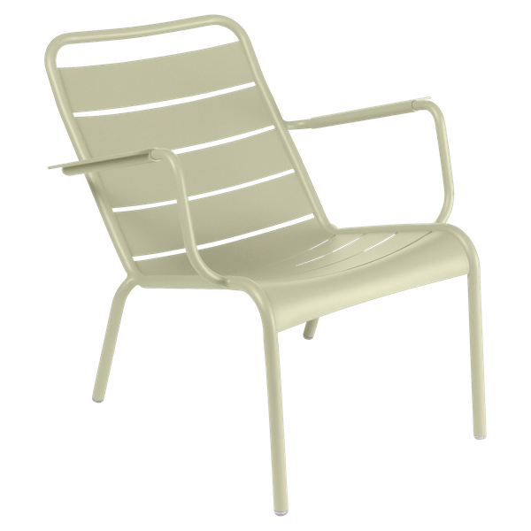 Fermob Luxembourg Low Armchair in Willow Green