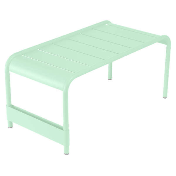 Fermob Luxembourg Large Low Table And Garden Bench in Opaline Green