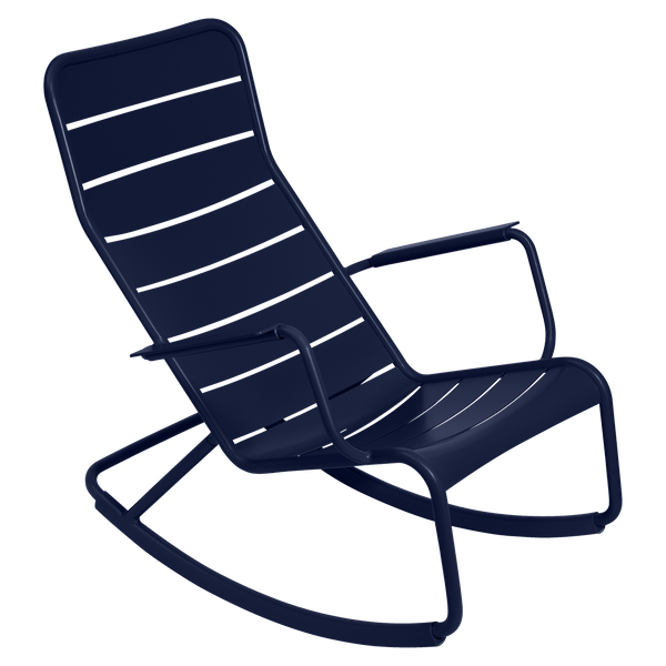 Fermob Luxembourg Rocking Chair in Deep Blue