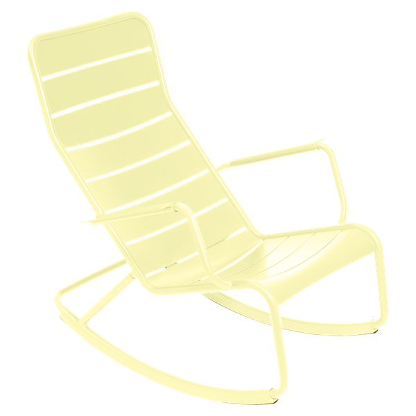 Fermob Luxembourg Rocking Chair in Frosted Lemon