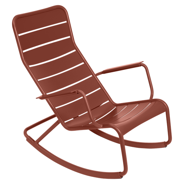 Fermob Luxembourg Rocking Chair in Red Ochre