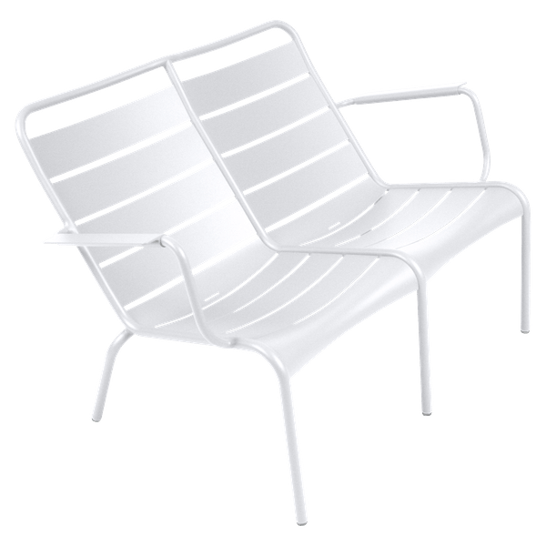 Fermob Luxembourg Low Armchair Duo in Cotton White