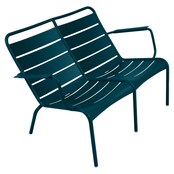 Fermob Luxembourg Low Armchair Duo in Acapulco Blue