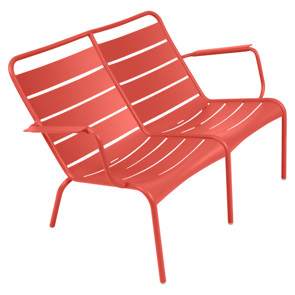 Fermob Luxembourg Low Armchair Duo in Capucine