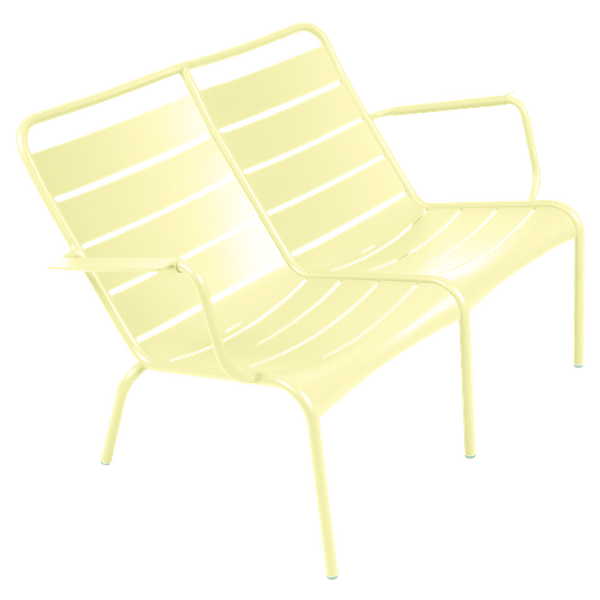 Fermob Luxembourg Low Armchair Duo in Frosted Lemon