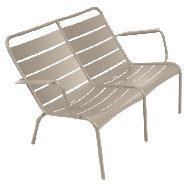 Fermob Luxembourg Low Armchair Duo in Nutmeg