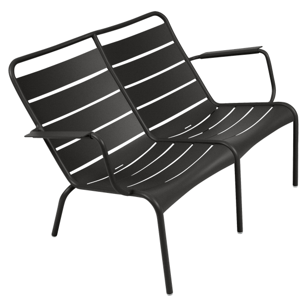 Fermob Luxembourg Low Armchair Duo in Liquorice
