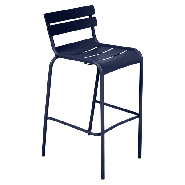 Fermob Luxembourg Bar Chair in Deep Blue