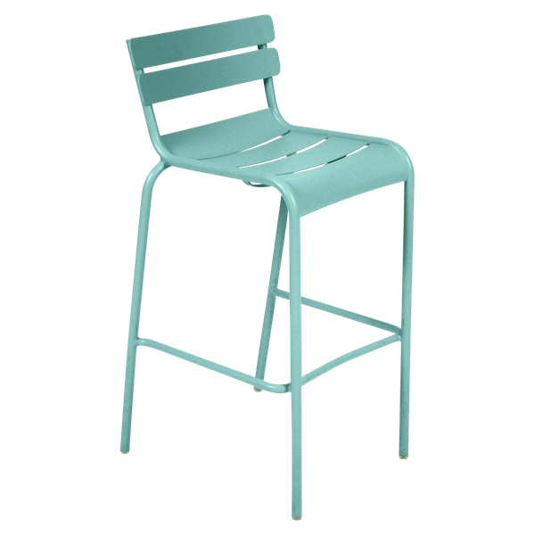 Fermob Luxembourg Bar Chair in Lagoon Blue