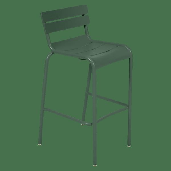 Fermob Luxembourg Bar Chair in Cedar Green