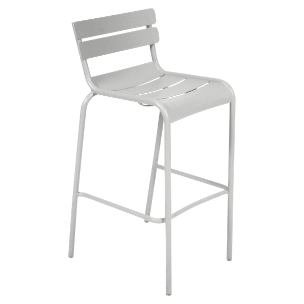 Fermob Luxembourg Bar Chair in Steel Grey
