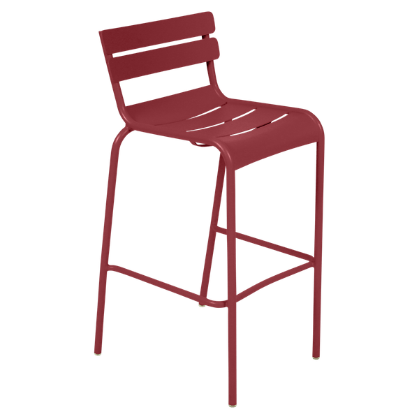 Fermob Luxembourg Bar Chair in Chilli