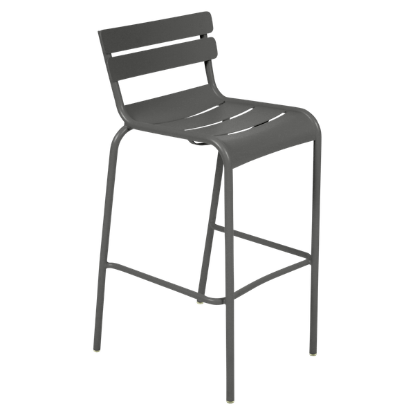 Fermob Luxembourg Bar Chair in Liquorice