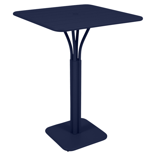 Fermob Luxembourg High Table in Deep Blue