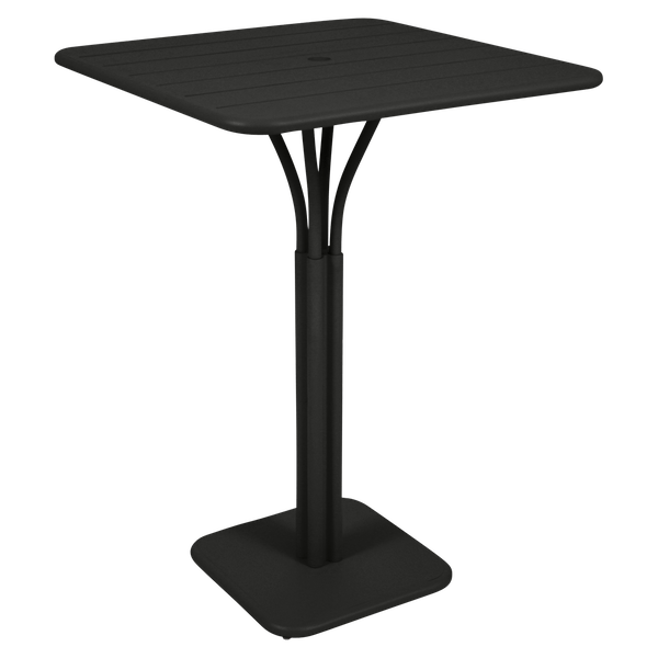 Fermob Luxembourg High Table in Liquorice