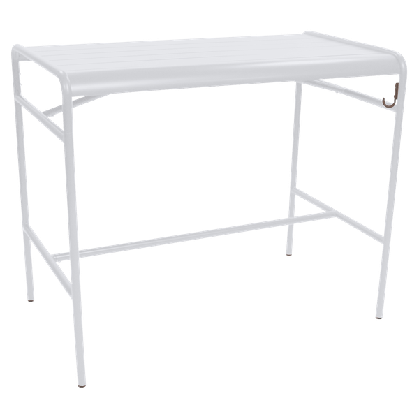 Fermob Luxembourg High Table 126 x 73cm in Cotton White