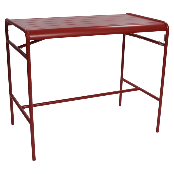 Fermob Luxembourg High Table 126 x 73cm in Poppy
