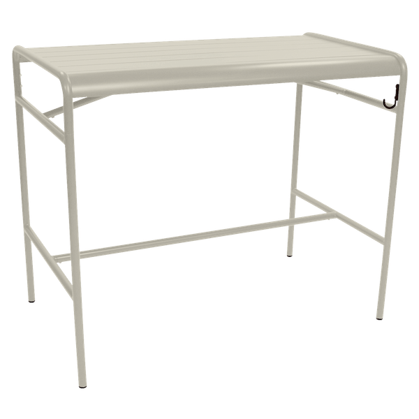 Fermob Luxembourg High Table 126 x 73cm in Clay Grey