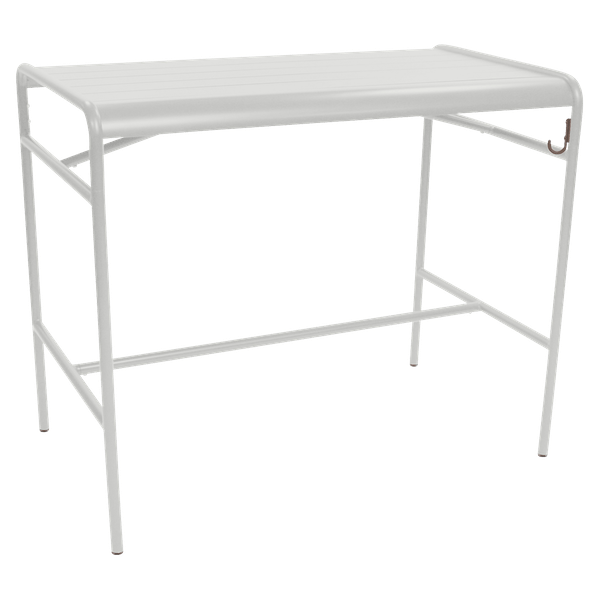 Fermob Luxembourg High Table 126 x 73cm in Steel Grey