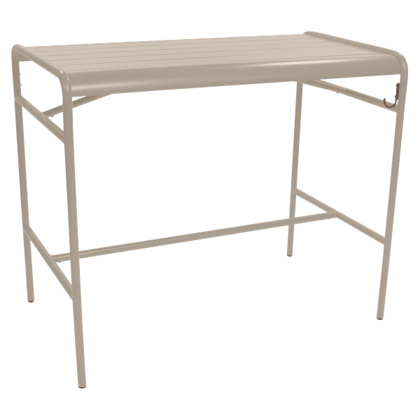 Fermob Luxembourg High Table 126 x 73cm in Nutmeg