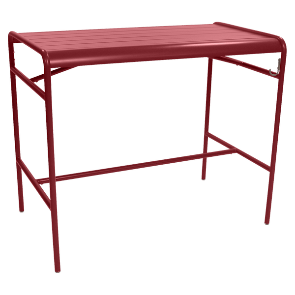 Fermob Luxembourg High Table 126 x 73cm in Chilli