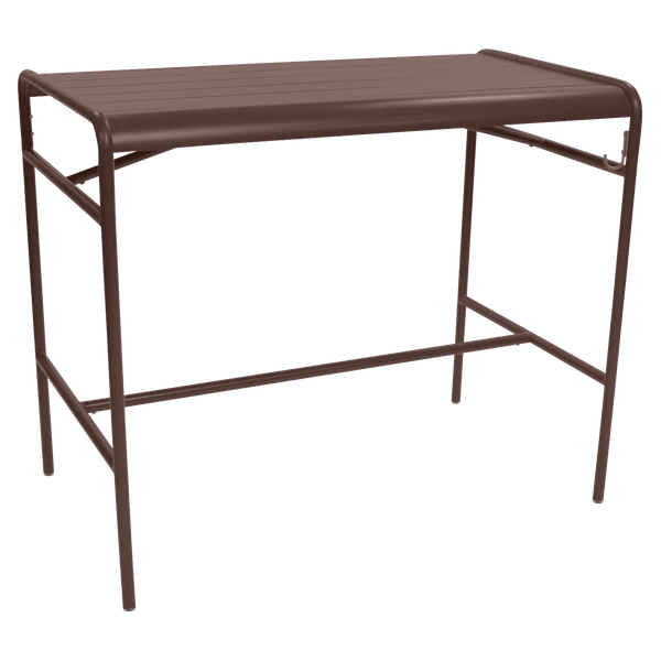 Fermob Luxembourg High Table 126 x 73cm in Russet