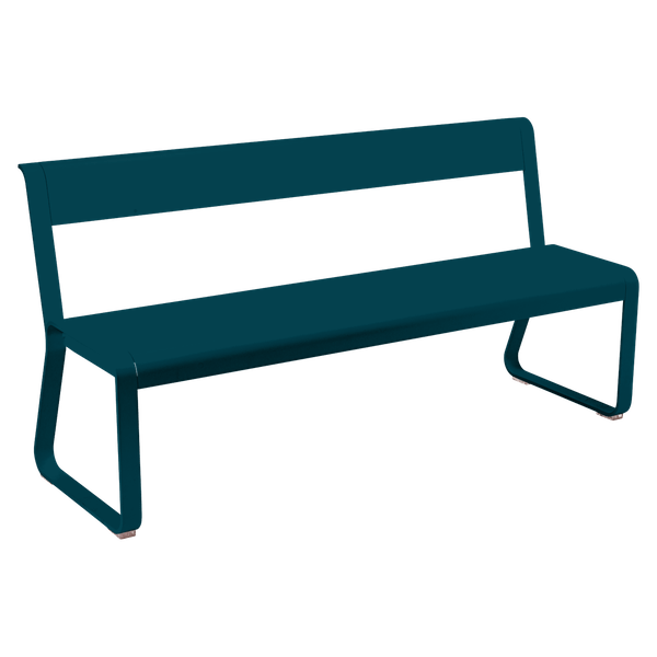 Fermob Bellevie Bench with Back in Acapulco Blue