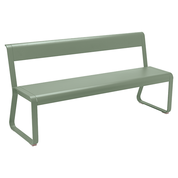 Fermob Bellevie Bench with Back in Cactus